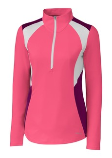 Cutter & Buck Annika Women's Moisture Wicking UPF 50+ Drytec Long Sleeve Half Zip Shirt instinctive