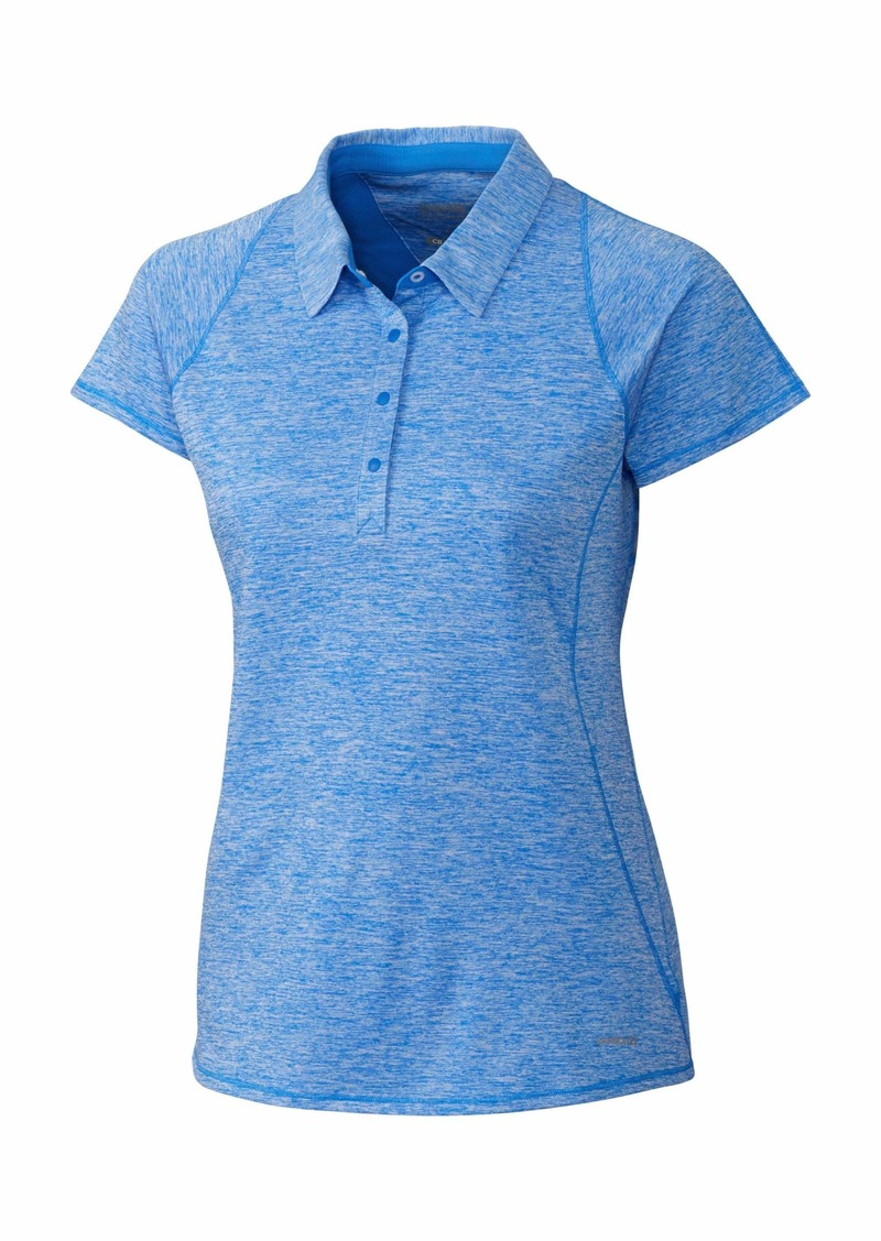 Cutter & Buck Annika Women's Short Sleeve Frequency 4 Button Heathered Polo  XL