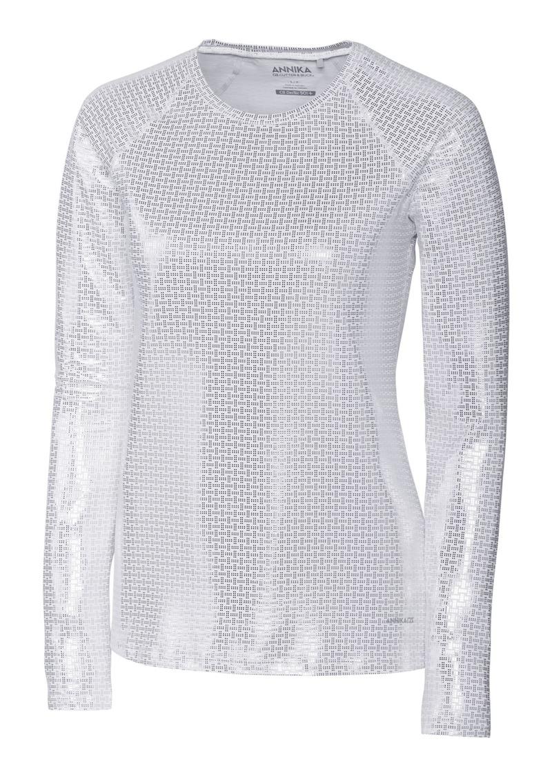 Cutter & Buck Annika Women's Stretch UPF 50+ Metallic Long Sleeve Solar Guard Shirt  XXLarge