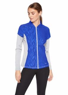 Cutter & Buck Annika Women's Weathertec Long Sleeve Hybrid Full Zip Jacket with Pockets  XSmall