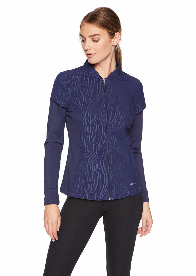 Cutter & Buck Annika Women's Weathertec Long Sleeve Hybrid Full Zip Jacket with Pockets  XXLarge