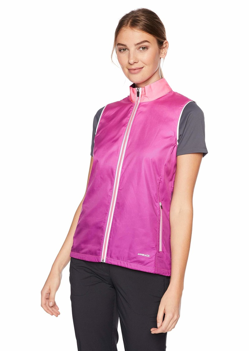 Cutter & Buck Annika Women's Weathertec Packable Reflective Full Zip Vest with Pockets  XLarge