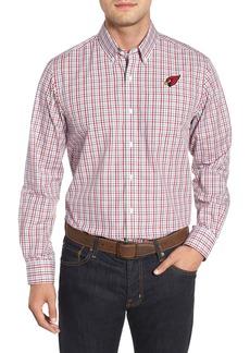 Cutter & Buck Arizona Cardinals - Gilman Regular Fit Plaid Sport Shirt