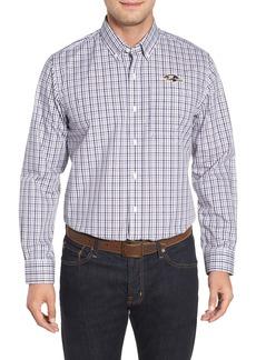 Cutter & Buck Baltimore Ravens - Gilman Regular Fit Plaid Sport Shirt