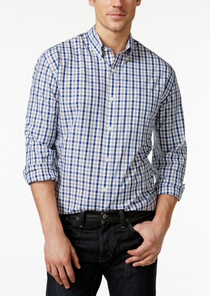 Cutter & Buck Big and Tall Men's Grant Plaid Button-Down Shirt