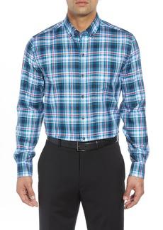 Cutter & Buck Brad Regular Fit Non-Iron Plaid Sport Shirt