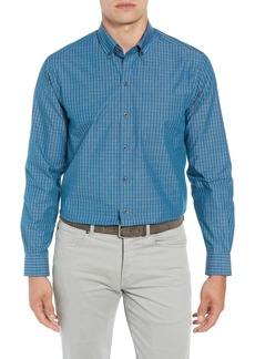 Cutter & Buck Brent Regular Fit Non-Iron Check Sport Shirt