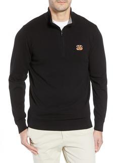 Cutter   Buck Cincinnati Bengals - Lakemont Regular Fit Quarter Zip Sweater 11c960451