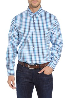 Cutter & Buck Clarence Regular Fit Plaid Sport Shirt