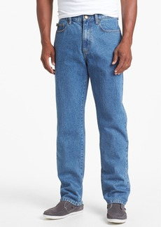 Cutter & Buck Classic Five Pocket Straight Leg Jeans (Denim Wash)