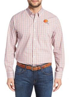Cutter & Buck Cleveland Browns - Gilman Regular Fit Plaid Sport Shirt