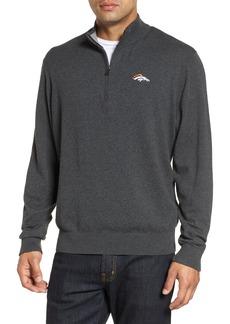 Cutter & Buck Denver Broncos - Lakemont Regular Fit Quarter Zip Sweater