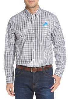 Cutter & Buck Detroit Lions - Gilman Regular Fit Plaid Sport Shirt