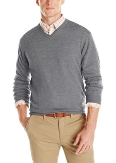 Cutter & Buck Men's Douglas V-Neck Sweater  Grey Heather
