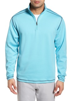 Cutter & Buck Evergreen Classic Fit DryTec Reversible Half Zip Pullover