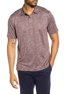Cutter & Buck Forge Classic Fit Paisley Print Performance Polo