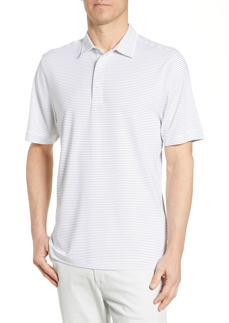 Cutter & Buck Forge Classic Fit Pencil Stripe Polo