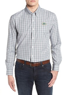 Cutter & Buck Green Bay Packers - Gilman Regular Fit Plaid Sport Shirt
