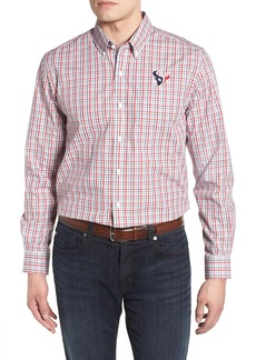 Cutter & Buck Houston Texans - Gilman Regular Fit Plaid Sport Shirt