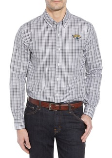 Cutter & Buck Jacksonville Jaguars - Gilman Regular Fit Plaid Sport Shirt