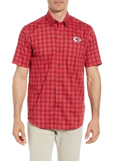 Cutter & Buck Kansas City Chiefs - Fremont Regular Fit Check Sport Shirt