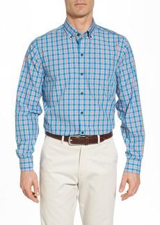 Cutter & Buck Landon Classic Fit Non-Iron Plaid Sport Shirt