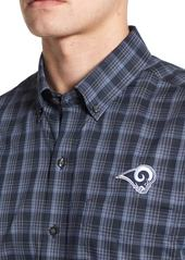 ... Cutter   Buck Los Angeles Rams - Fremont Regular Fit Check Sport Shirt 232f9bc5f