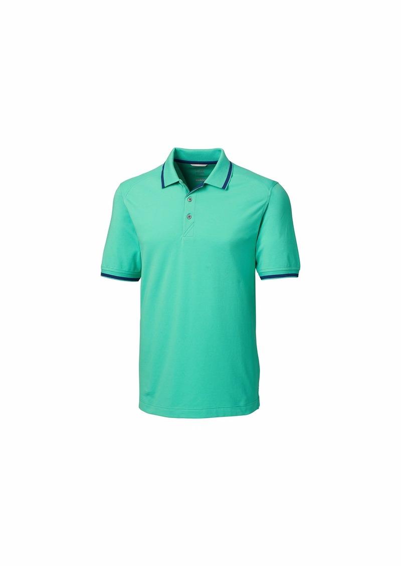Cutter & Buck Men's 35+ UPF Lightweight Cotton Advantage Tipped Polo Shirt