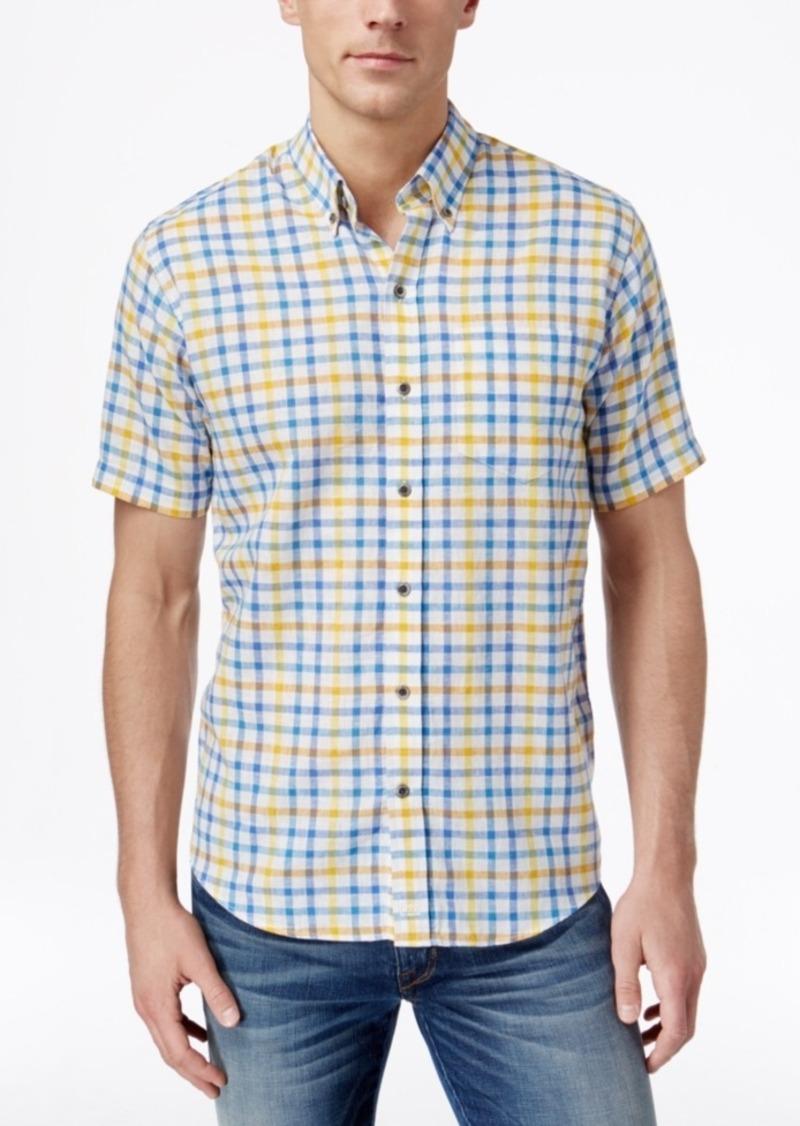 Cutter & Buck Men's Big & Tall Abalone Check Short-Sleeve Shirt