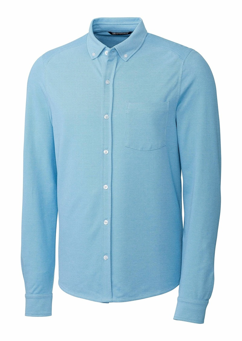 Cutter & Buck Men's Big & Tall Long Sleeve Button Front Reach Oxford  B