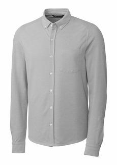 Cutter & Buck Men's Big & Tall Long Sleeve Button Front Reach Oxford  B