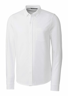 Cutter & Buck Men's Big & Tall Long Sleeve Button Front Reach Oxford  4XB