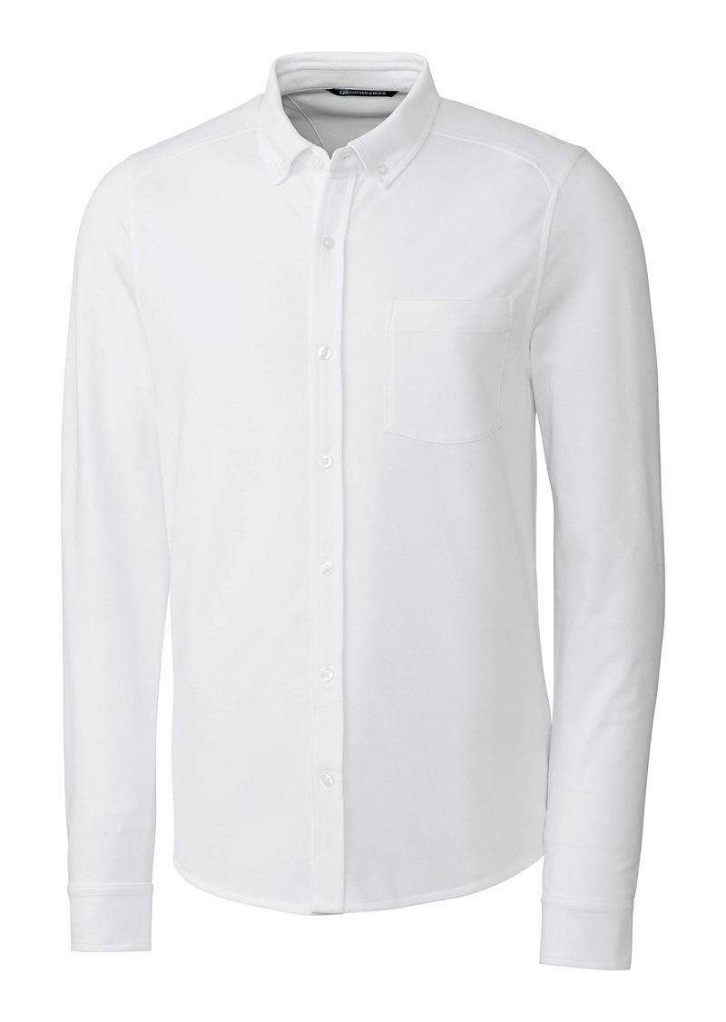 Cutter & Buck Men's Big & Tall Long Sleeve Button Front Reach Oxford  4XT