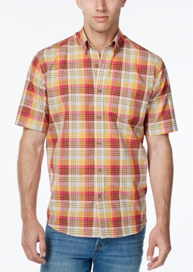 Cutter & Buck Men's Big & Tall Youngstown Plaid Short-Sleeve Shirt