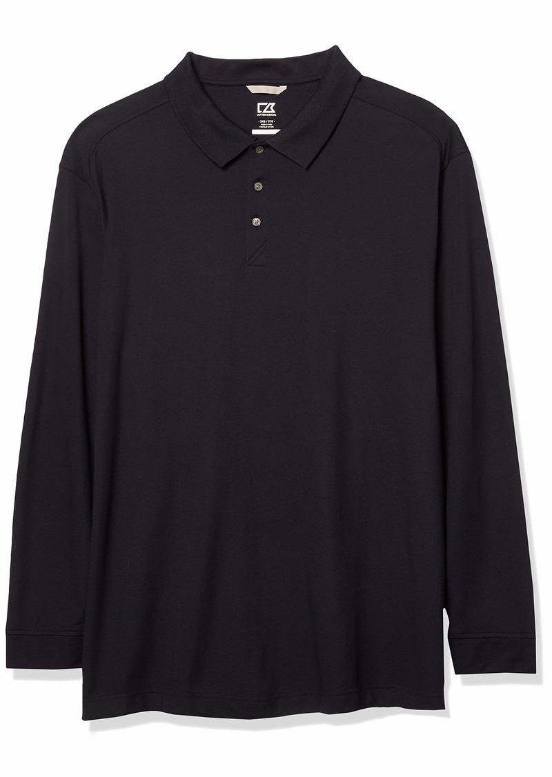 Cutter & Buck Men's Big and Tall Big & Tall 35+UPF Long Sleeve Advantage Polo Shirt  2XLT