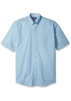 Cutter & Buck Men's Big and Tall Big & Tall Short-Sleeve Mars Plaid Shirt  2X
