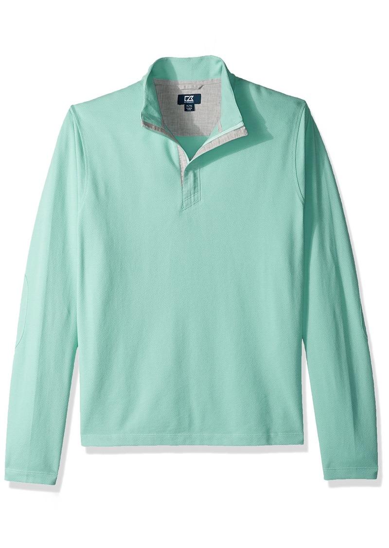 Cutter & Buck Men's Big and Tall Hewitt Lightweight Honeycomb Textured Half-Zip Sweatshirt