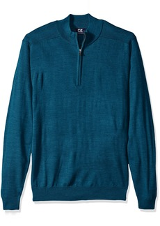 Cutter & Buck Men's Big and Tall Long Sleeve Douglas Half-Zip Mock  2XB