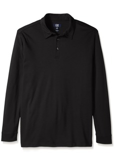 Cutter & Buck Men's Big and Tall L/s Belfair Pima Polo  Large