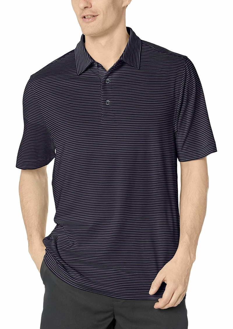 Cutter & Buck Men's Big and Tall Moisture Wicking UPF Drytec Forge Pencil Stripe Polo Shirt  4X