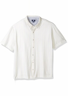 Cutter & Buck Men's Big and Tall Short Sleeve Estuary Button Front Polo