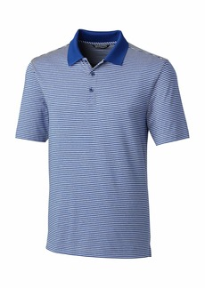 Cutter & Buck Men's Tall Moisture Wicking Drytec UPF 50 Forge Tonal Stripe Polo Shirt