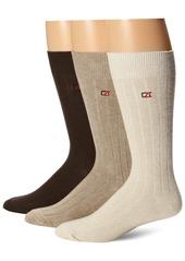 Cutter & Buck Men's Casual Rib Crew Socks