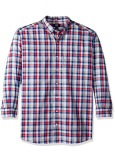 Cutter & Buck Men's Check Easy Care Button Down Collared Shirts