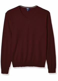 Cutter & Buck Men's Cotton-Rich Classic Lakemont Anti-Pilling V-Neck Sweater  Larget