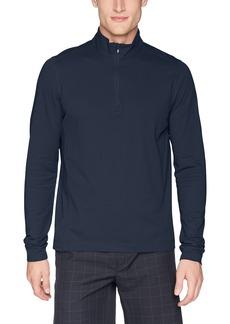 Cutter & Buck Men's Drytec UPF 50+ Cotton Advantage Zip Mock Pullover  XLarge