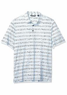 Cutter & Buck Men's Drytec UPF 50+ Lightweight Pike Vine Print Polo Shirt  XXX-Large