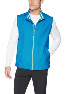 Cutter & Buck Men's Drytec Water Resistant Nine Iron Full Zip Vest with Pockets  XLarge