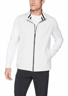 Cutter & Buck Men's Drytec Water Resistant Nine Iron Full Zip Vest with Pockets