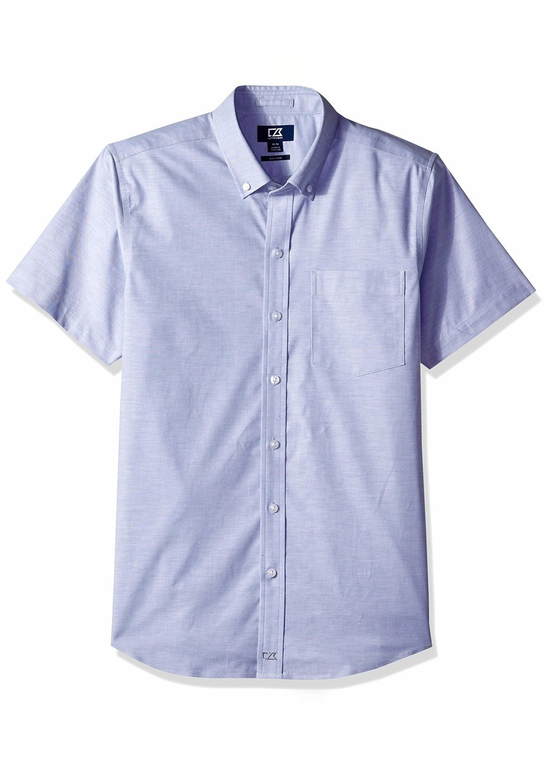 Cutter & Buck Men's Easy Care Tailored Fit Stretch Oxford Short Sleeve Shirt